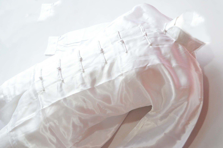 Uniforme Tai Chi wushu  blanco fabricado en poliseda