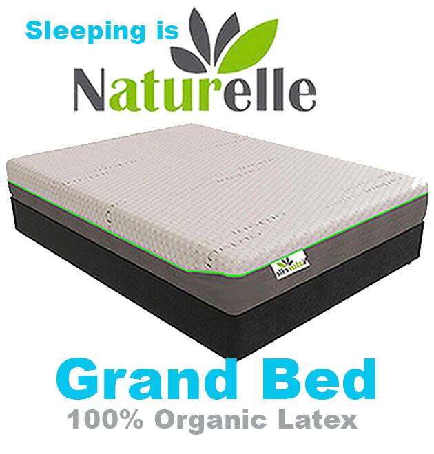 """Grand bed    Queen   10""""    100% Organic Latex Mattress"""