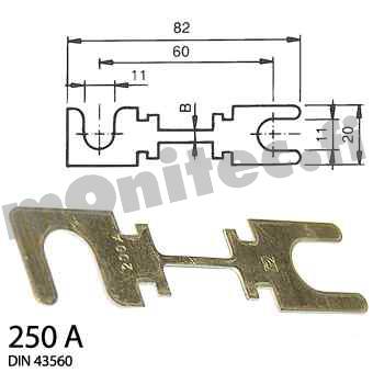Päävirtasulake sarjan varasulake 250A
