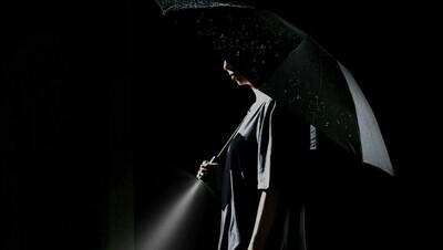Зонт Xiaomi 90 Points с светодиодным фонариком Automatic Umbrella with LED Flashlight