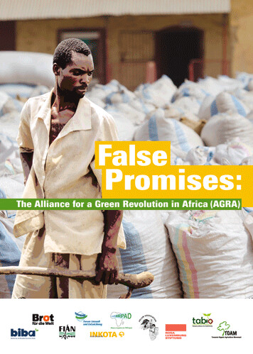 False Promises (AGRA)(engl.)