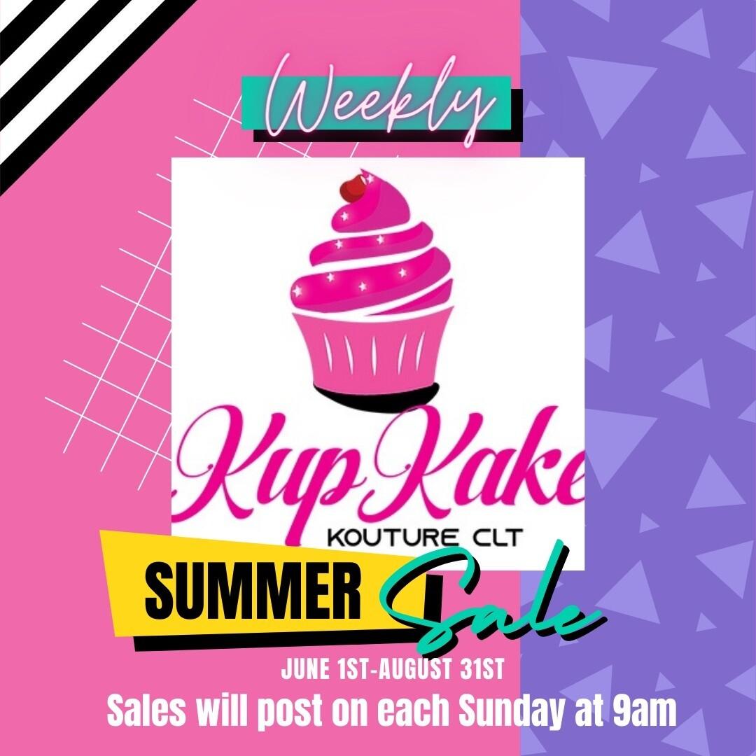 SUMMER SALE (June 1st- Aug. 31st)