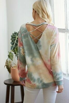Tie dye long sleeve top