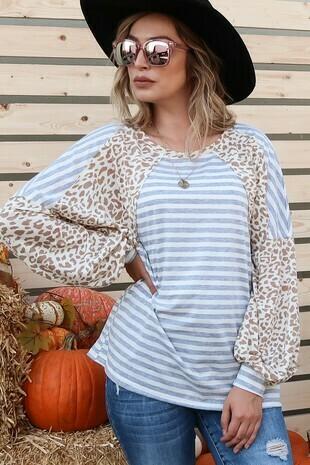 Leopard stripe tunic