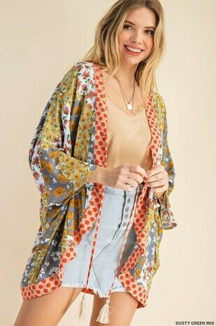 tie closure kimono