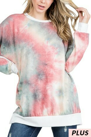 French terry tie dye plus