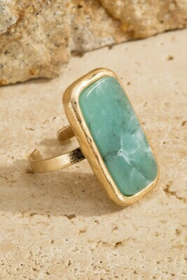 Natural Stone accent ring