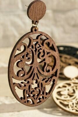 Filgree wood dangle