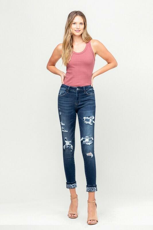 Vervet Paisley Jeans