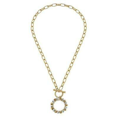 Hadley Beaded Metal Necklace - CANVAS