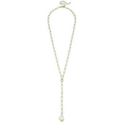 Camille Necklace 24 in -Canvas