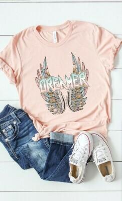 Dreamer graphic tee plus