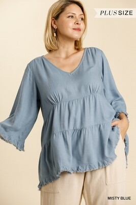 Babydoll tiered top -Plus