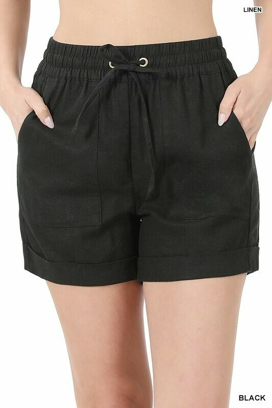Drawstring Waistband Shorts