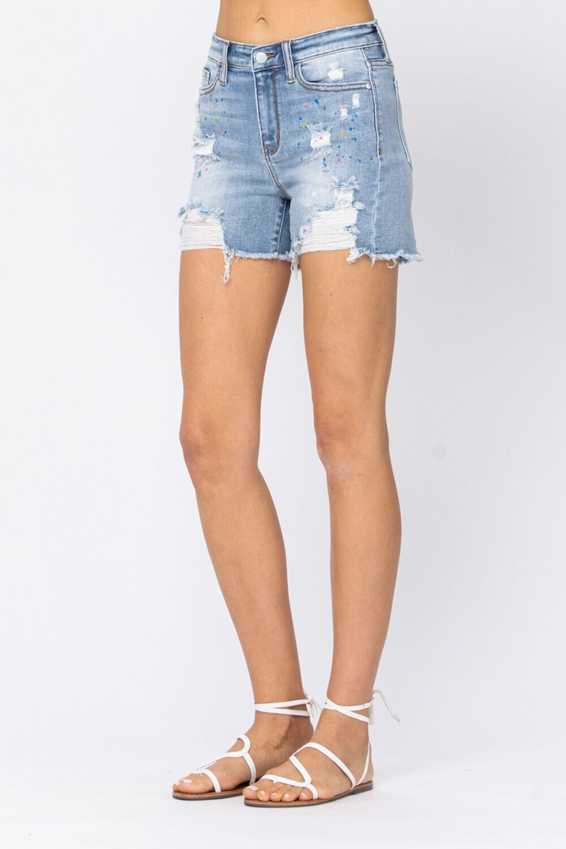 Judy Blue Shorts Paint Splash