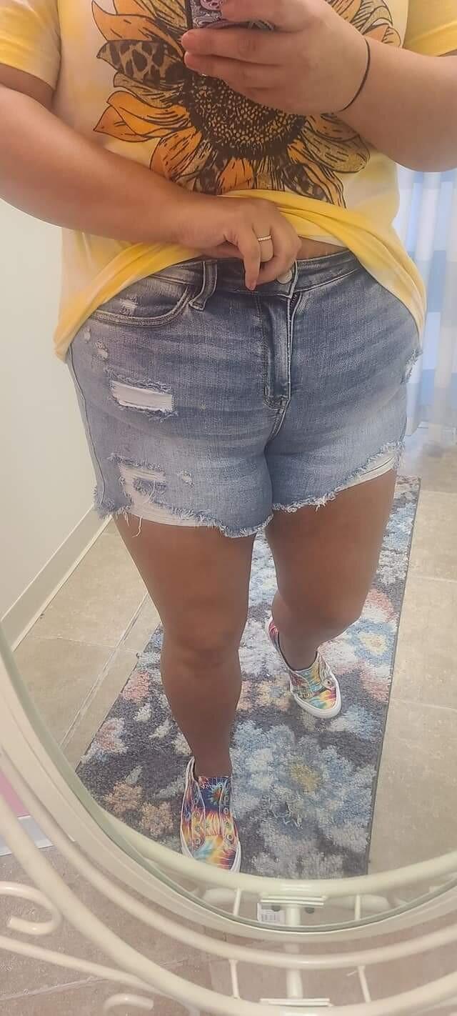 Plus judy blue shorts paint splash