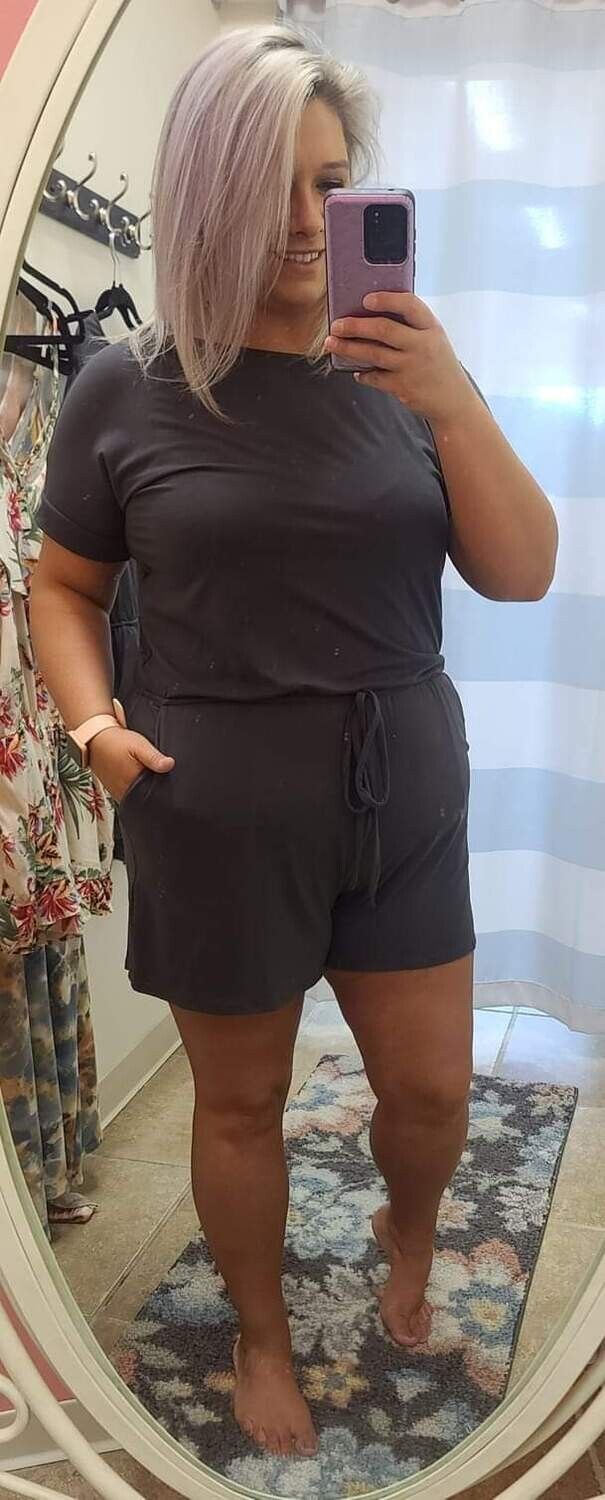 Plus Romper with pockets