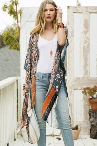 Paisley with Floral Kimono