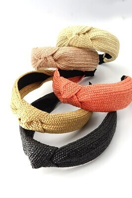 WIDE KNOTTED HAIR BAND