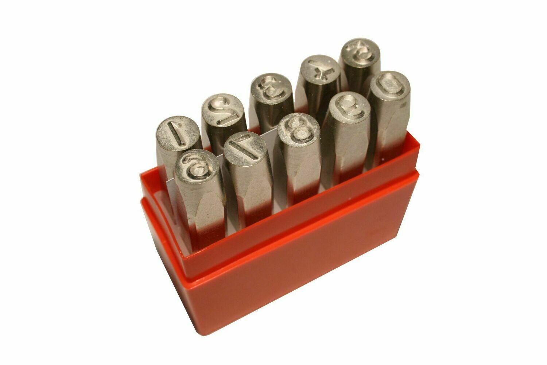 Chiffres a frapper 0-9 10.0 mm