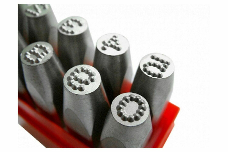 Chiffres a frapper 0-9 Dotstress 6.0 mm