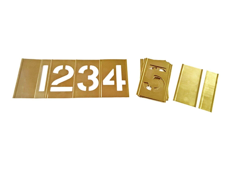 Interlocking stencil number set 0-9