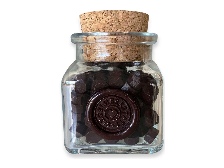 Sealing Wax Beads in Glass Bottle - Coffee