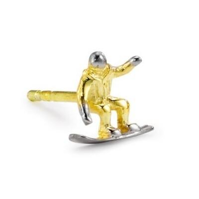 Ohrstecker Snowboarder