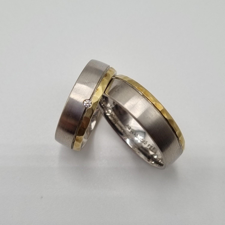 Partnerringe Silber/Gold