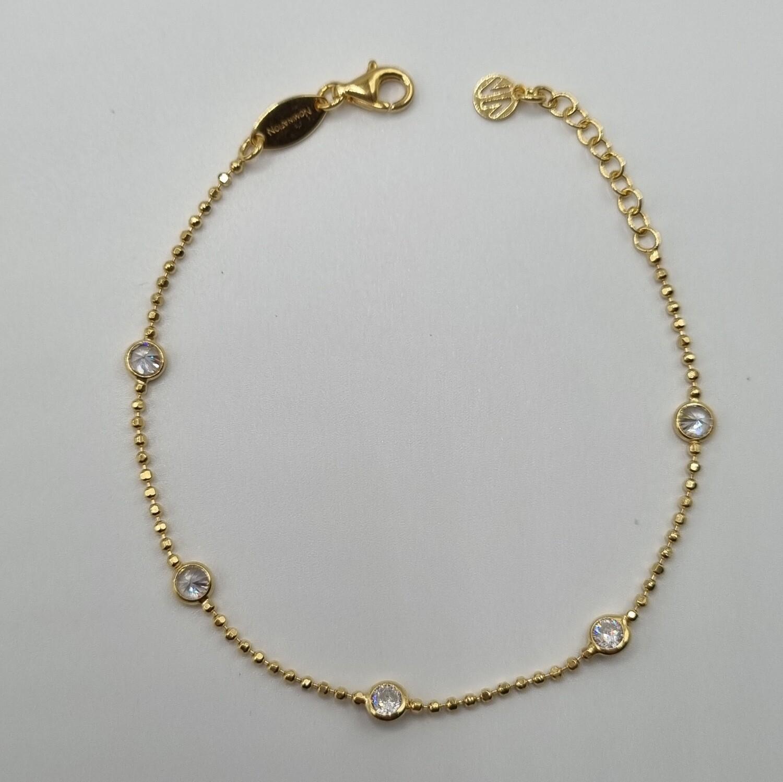 1 Armband vergoldet