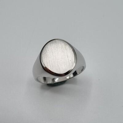 Plattenring Silber