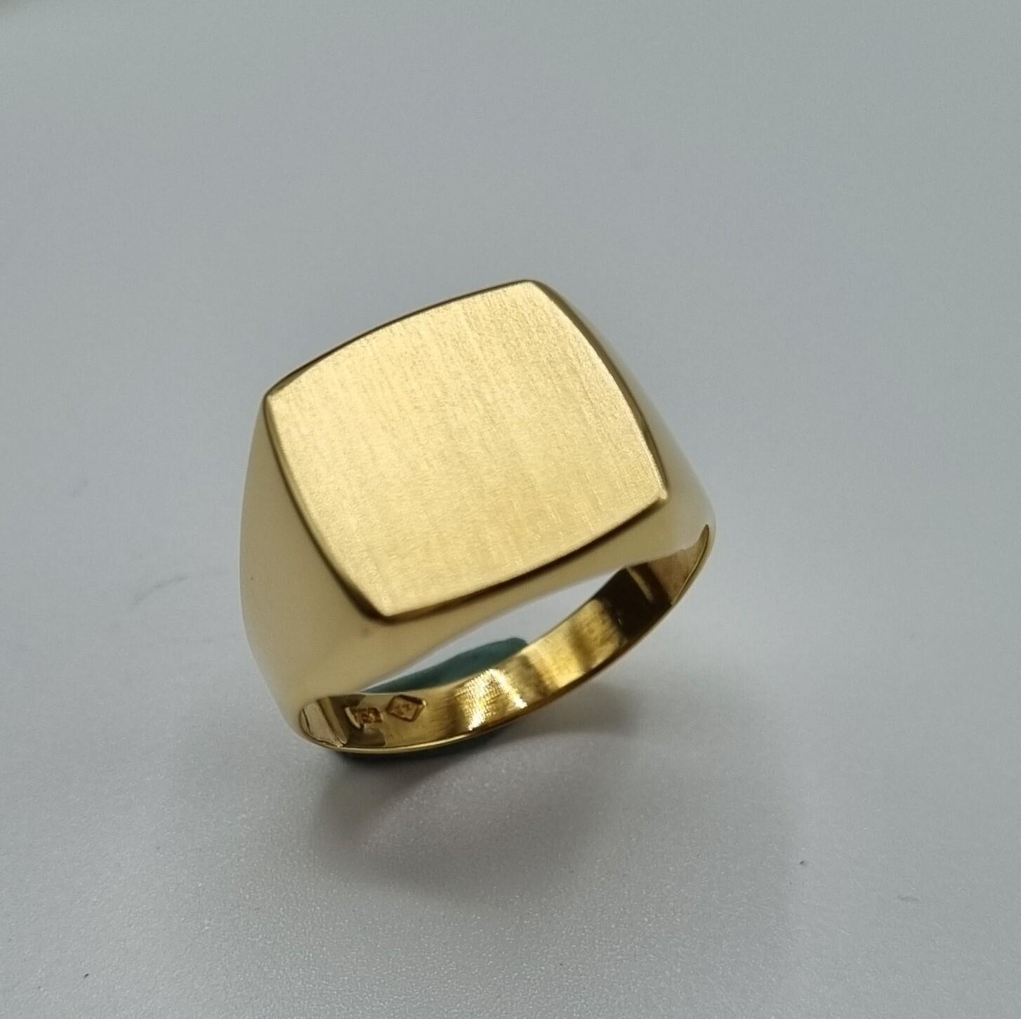 Plattenring Gold