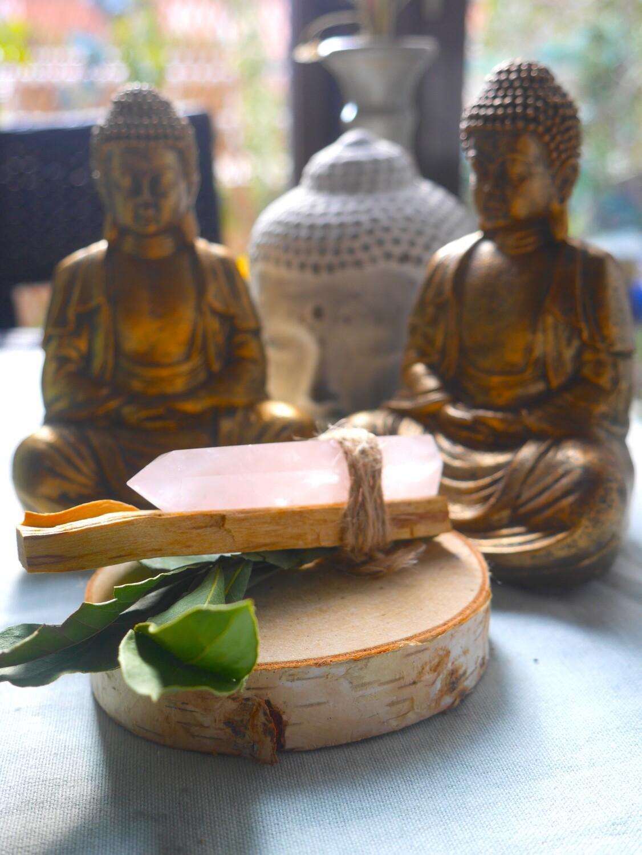 Kit chakra du coeur avec quartz rose