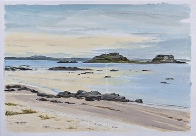 Fidra in the Firth of Forth, East Lothian - print only