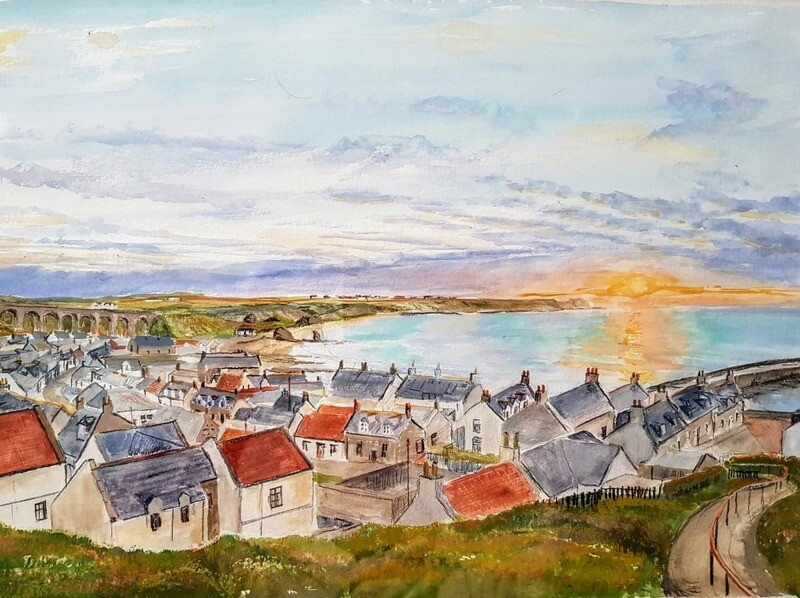 Cullen Bay - Midsummer evening - print only.