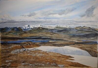 Looking over Rannoch Moor from Beinn a' Chreachain - print only
