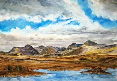 Looking across Rannoch Moor to the Blackmount - print only