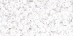 11/0 Round Toho Opaque White Lustre 121 40g