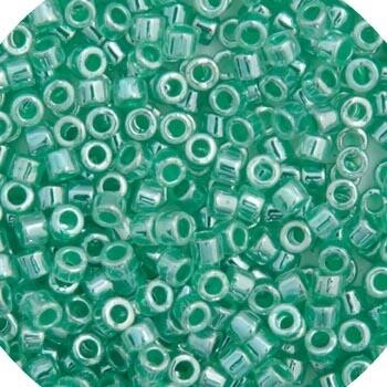 11/0 Delica Miyuki Ceylon Green Aqua Colourlined 238