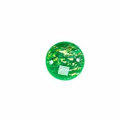 Resin Emerald Green Dichroic Round 12mm x5