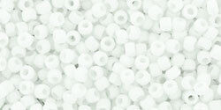 15/0 Round Toho Opaque White Matte  41f