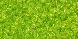 11/0 Round Toho Transparent Lime Green 4