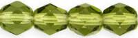 4mm Fire Polish Olive Green x50