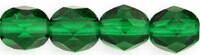 4mm Fire Polish Emerald Green x50