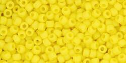11/0 Round Toho Opaque Light Yellow Matte 42f