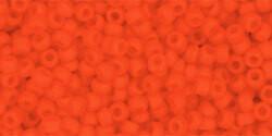 11/0 Round Toho Opaque Dark Orange Matte  50f
