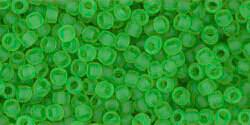 11/0 Round Toho Transparent Peridot Green Matte  7f