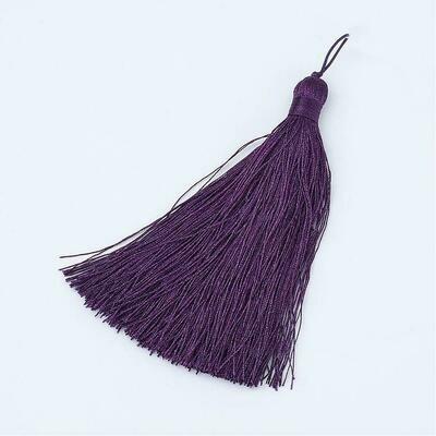 Dark Indigo Purple Tassel 105x11mm