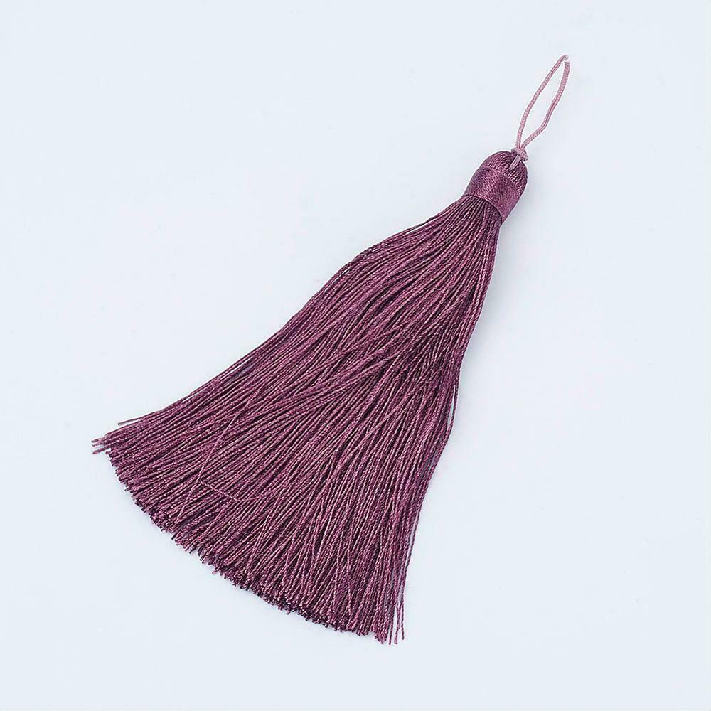Old Rose Pink Purple Tassel 105x11mm