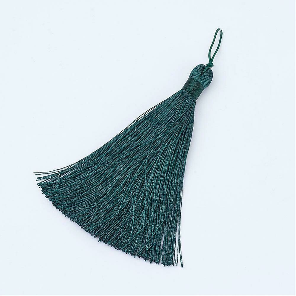 Dark Teal Green Tassel 105x11mm